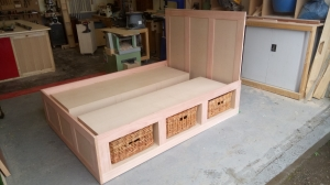 Bed with storage baskets 2