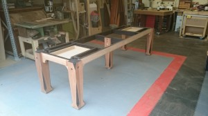 Big slate topped table