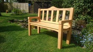 Oak garden bench